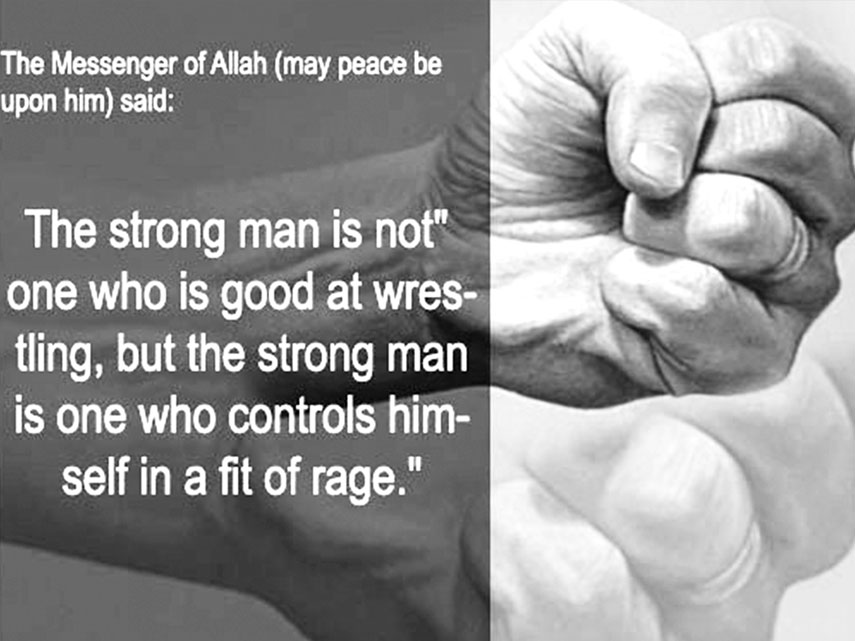 Image result for Restrain Anger hadith