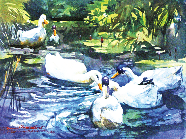 Paintings Depicting The Beauty Of Eternal Bangla   2018-09-21