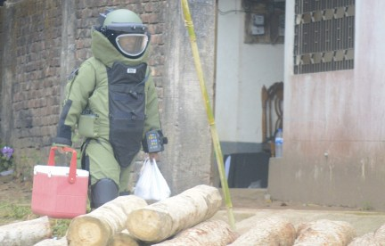 Grenades recovered from Chittagong Militant den