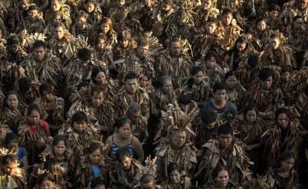 Mud people festival in Aliaga