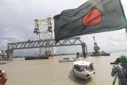 First Padma Bridge span installed