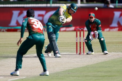 South African batsman David Miller hits an explosive 101 off 36