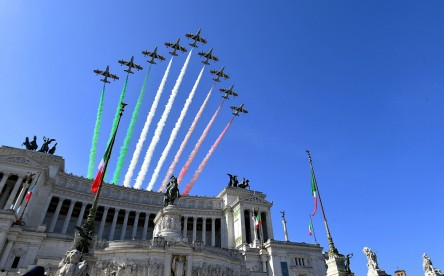 The Italian Air Force aerobatic unit