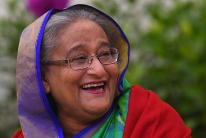 Prime Minister Sheikh Hasina smiles