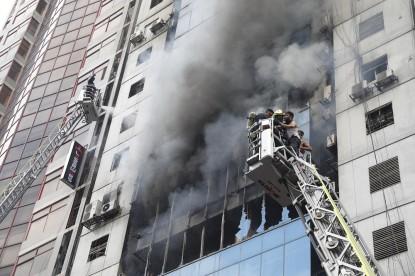 Fire at FR tower Banani, Dhaka