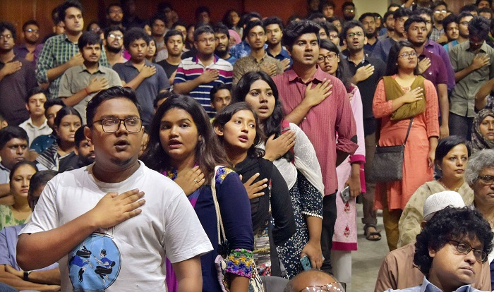 Teachers, students including VC take oath, BUET movement postponed