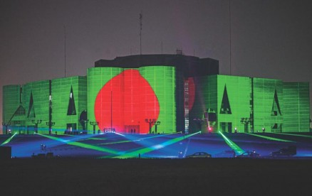DHAKA ILLUMINATED THE CAPITAL IS DECORATED WITH COLOURFUL LIGHTS AHEAD OF THE 49TH VICTORY DAY