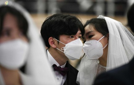 South Korea mass wedding defies coronavirus fears