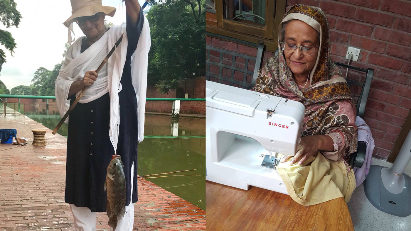 PM enjoys fishing, sewing