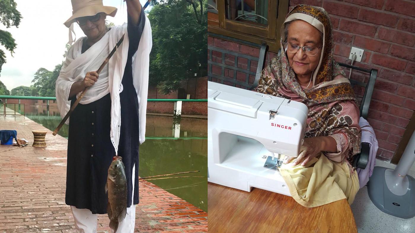PM enjoys fishing, sewing