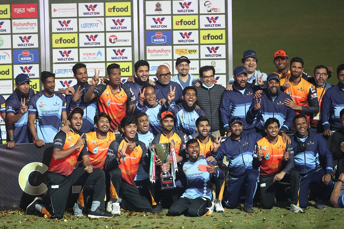 Mahmudullah 70 leads Gemcon Khulna to Bangabandhu T20 Cup title