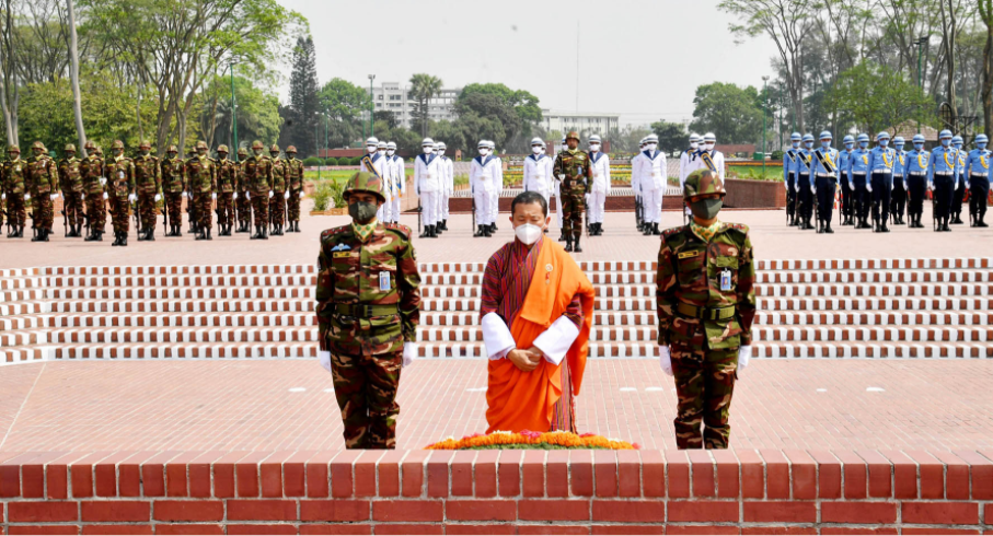 Bhutanese PM Dr Lotay Tshering arrives in Dhaka