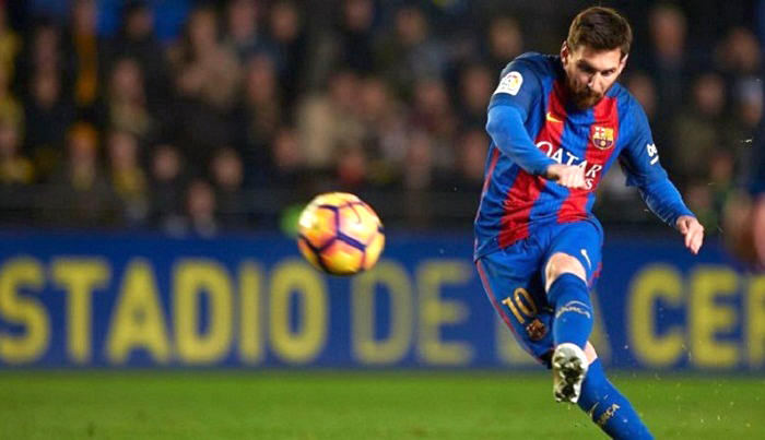 Messi becomes the most prolific free-kick goalscorer in the history of the club breaking another Barcelona record on Saturday