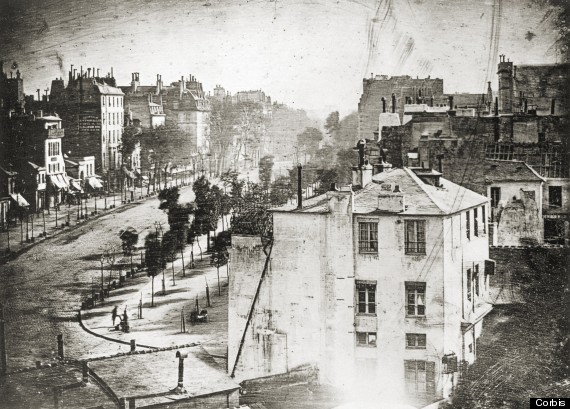 The first photograph of a human being!