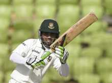 Tigers achieve a handsome lead through Mominul's century