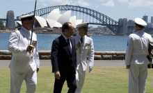 Hollande pays first visit to Australia by a French president