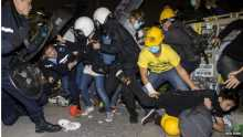 Protesters clash with police at Hong Kong legislature