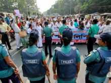 Nurses stage demo in city