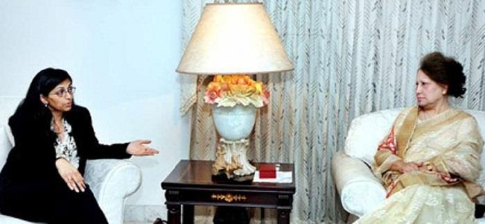 Nisha holds talks with Khaleda