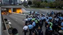 Hong Kong protesters warned not to return to clash site