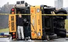 School bus crash kills five children in India