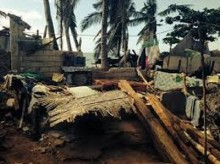 Homes crushed as Typhoon Roars Through Philippines