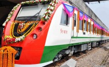 Railway Minister inaugurates 2 DEMU train on Tongi-Kamalapur route