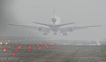 Dense fog caused flight delay  at Shahjalal Airport