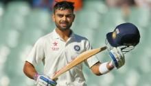 Virat Kohli hits 115 as India close on 369-5