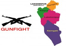 Cop among 2 injured in Laxmipur gunfight