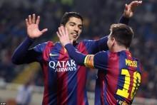 Suarez scores as Barcelona win 5-0