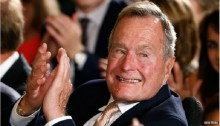 George HW Bush taken to hospital