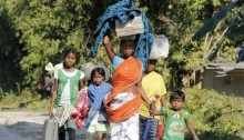 Assam violence survivors flee homes