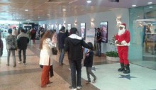 Santa Claus at 'Bashundhara City'
