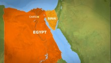 Bomb kills two Egyptian troops in Sinai peninsula