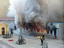 Arson attack on Swedish mosque injures five