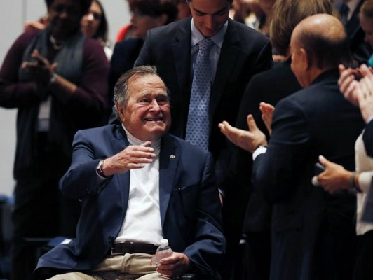 Former US president George HW Bush expected to leave hospital soon