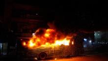 Mother, 2 children burnt as auto-rickshaw torched