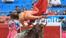 Mexican female bullfighter Karla de los Angeles gored