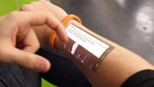 Turn your skin into a Smartphone display
