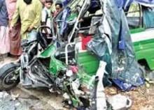 2 killed, 3 injured in a bus-auto rickshaw crash in Comilla