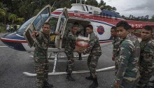 4 crew injured in Malaysia relief helicopter crash
