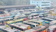 Bus communications of 3 districts with Dhaka suspended
