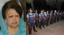 Khaleda Zia besieged in Gulshan office