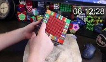 World\'s Largest Rubik\'s Cube solved in only 7.5 hours