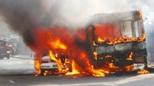 7 buses torched in capital