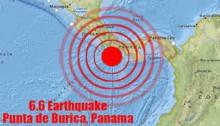 Magnitude-6.6 earthquake strikes off Pacific coast of Panama