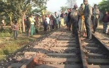Fishplate of rail-line dismantled in Joypurhat
