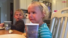 Elder brother puts his crying sister in her place... in the cutest way possible