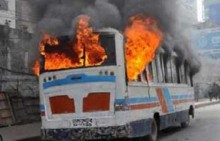 3 vehicles torched at Keraniganj in the capital